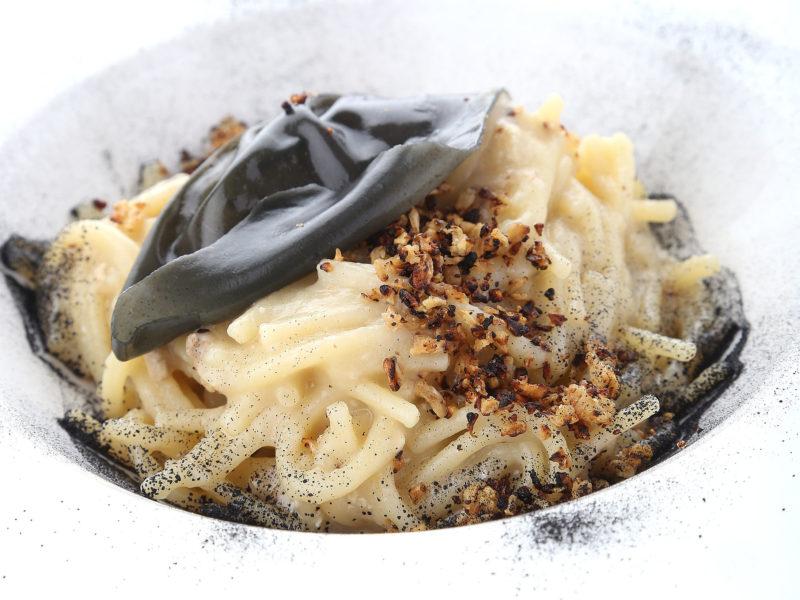 Spaghetti risottati cacio e pepe