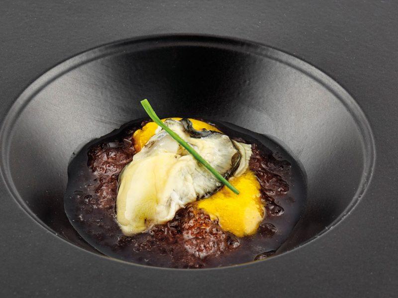ostrica mango e gelatina