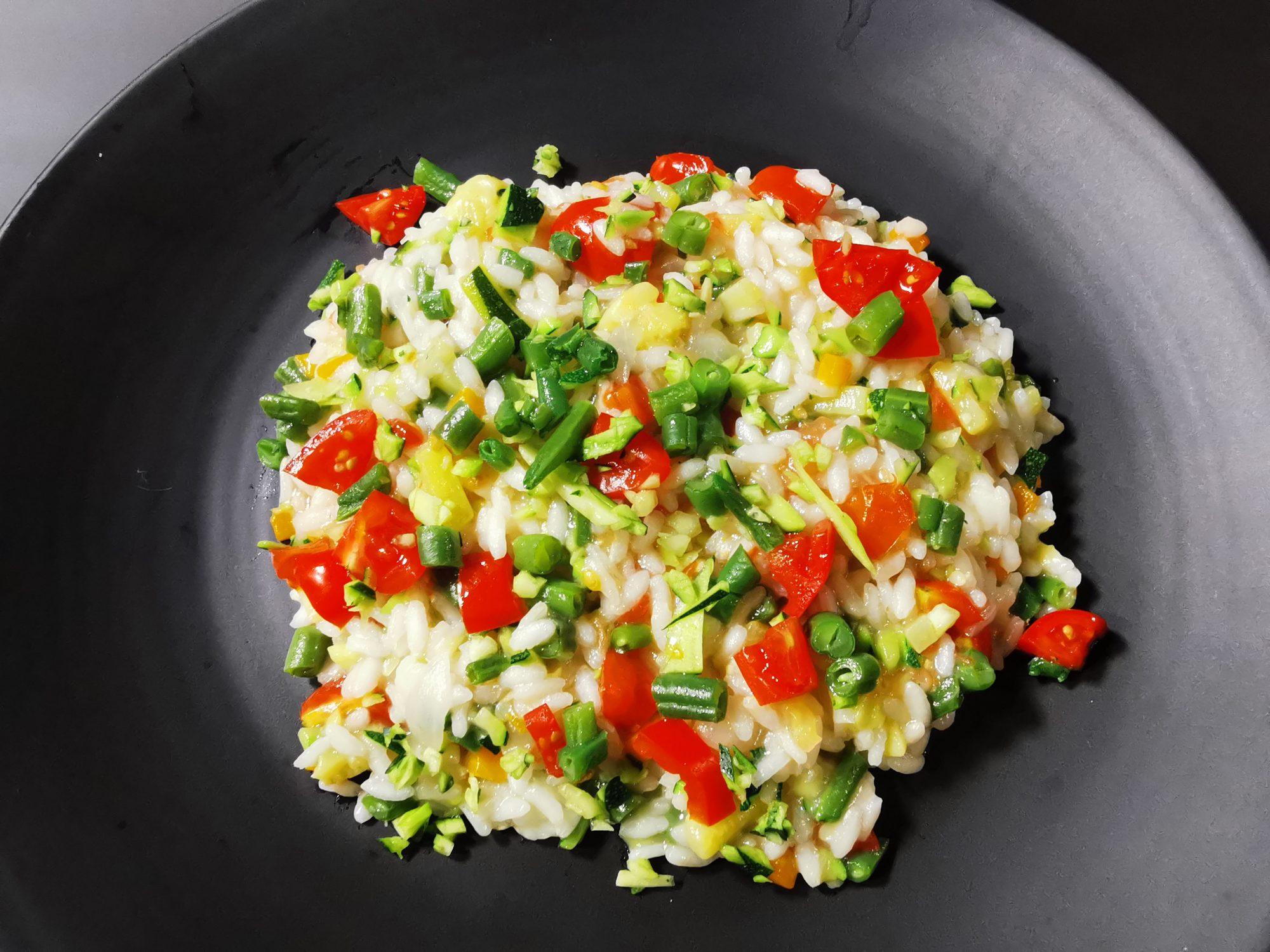 Risotto alle verdure cotte e crude