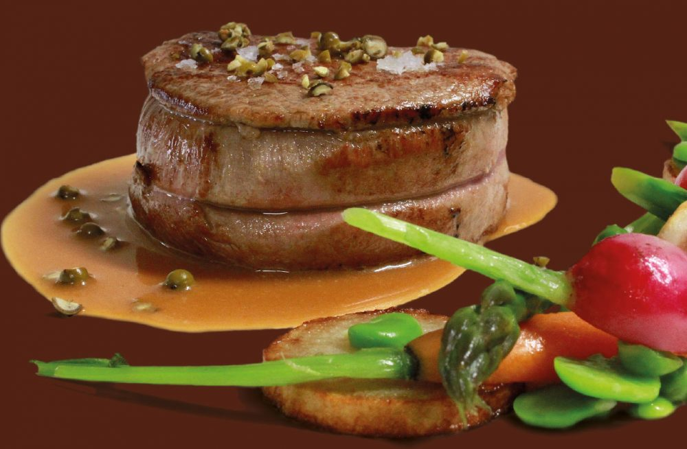 Filetto di manzo al pepe verde