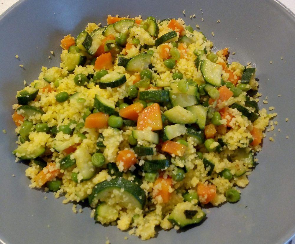 Cous cous di mais e riso alle verdure