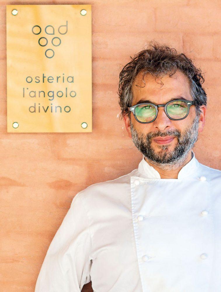 Tiziano Rossetti, patron chef del ristorante Osteria L'Angolo Divino di Urbino